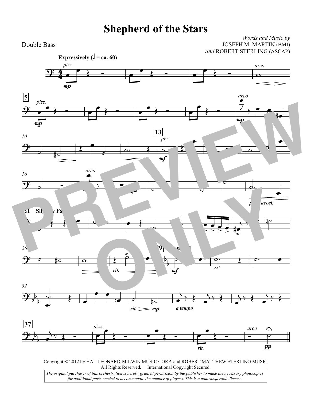 Shepherd Of The Stars - Double Bass (Choir Instrumental Pak)