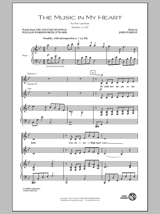 The Music In My Heart Sheet Music