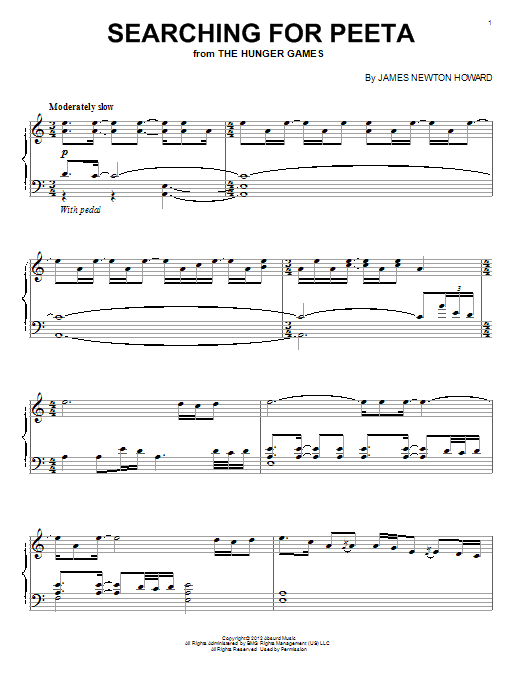 Searching For Peeta Sheet Music