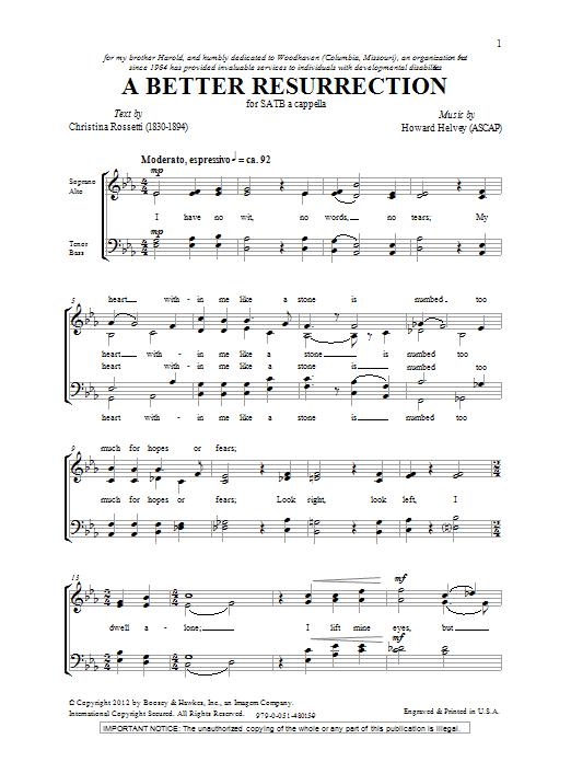 A Better Resurrection (SATB Choir)