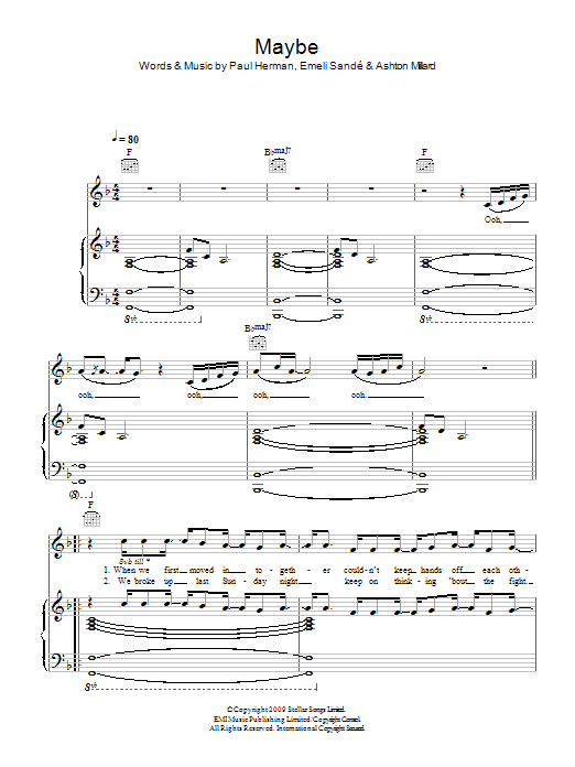 Maybe Sheet Music