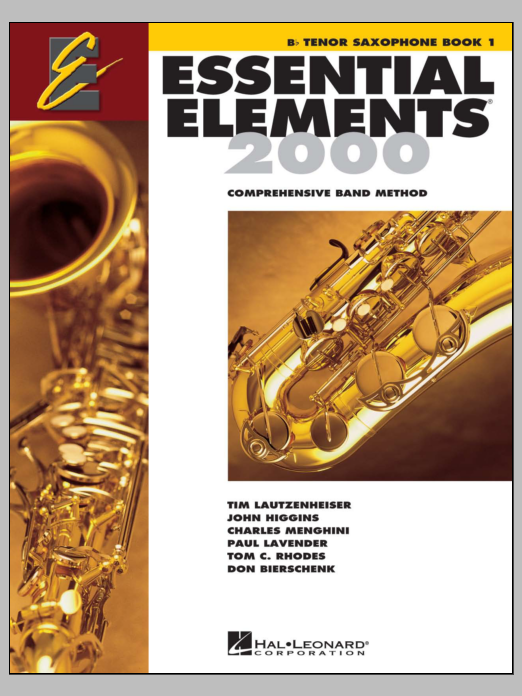 Essential Elements 2000, Book 1 For Bb Tenor Saxophone (Book Only) Sheet Music