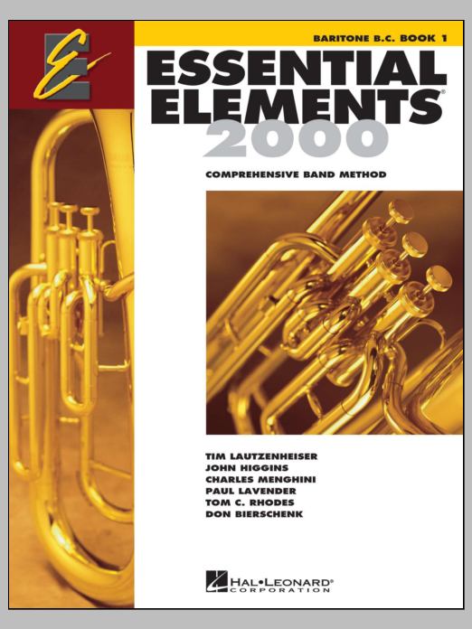 Essential Elements 2000, Book 1 For Baritone B.C. (Book Only) Sheet Music