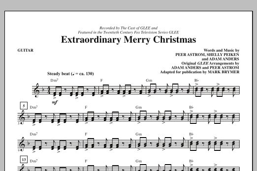 Extraordinary Merry Christmas - Guitar (Choir Instrumental Pak)