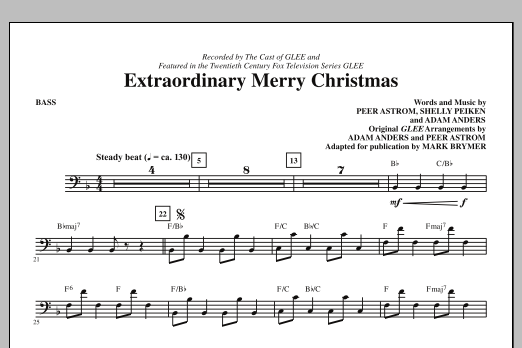 Extraordinary Merry Christmas - Bass (Choir Instrumental Pak)