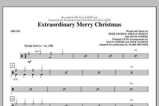 Extraordinary Merry Christmas - Drums (Choir Instrumental Pak)