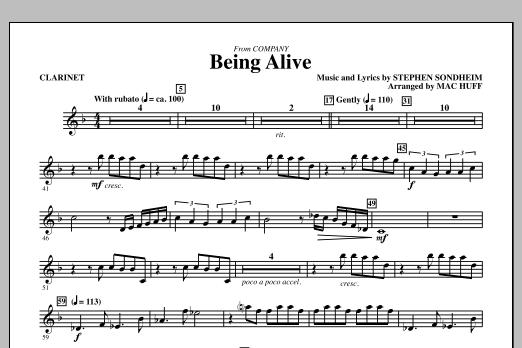Being Alive - Bb Clarinet (Choir Instrumental Pak)