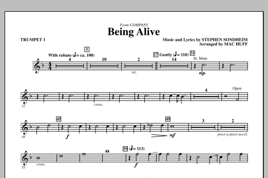 Being Alive - Trumpet 1 (Choir Instrumental Pak)