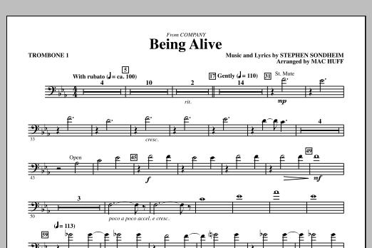 Being Alive - Trombone 1 (Choir Instrumental Pak)