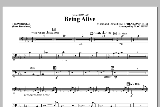 Being Alive - Trombone 2 (Bass Trombone) (Choir Instrumental Pak)