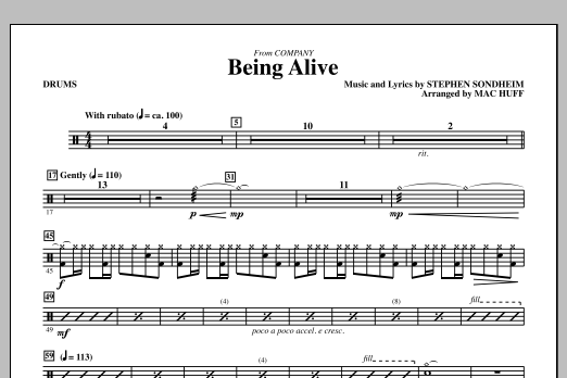 Being Alive - Drums (Choir Instrumental Pak)