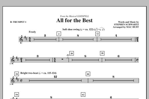 All For The Best - Bb Trumpet 1 (Choir Instrumental Pak)