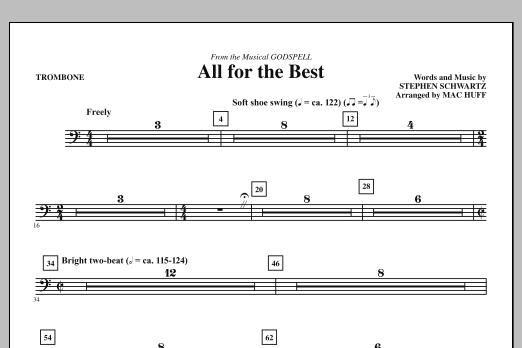 All For The Best - Trombone (Choir Instrumental Pak)