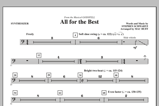All For The Best - Synthesizer (Choir Instrumental Pak)
