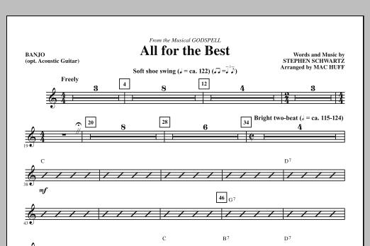 All For The Best - Banjo (opt. Acoustic Guitar) (Choir Instrumental Pak)