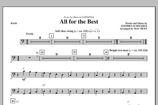 All For The Best - Bass (Choir Instrumental Pak)