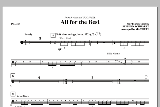 All For The Best - Drums (Choir Instrumental Pak)