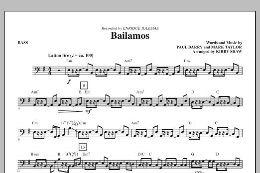 Bailamos - Bass (Choir Instrumental Pak)