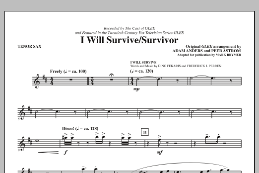 I Will Survive/Survivor (arr. Mark Brymer) - Tenor Sax (Choir Instrumental Pak)