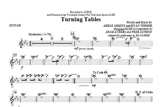 Turning Tables - Guitar (Choir Instrumental Pak)