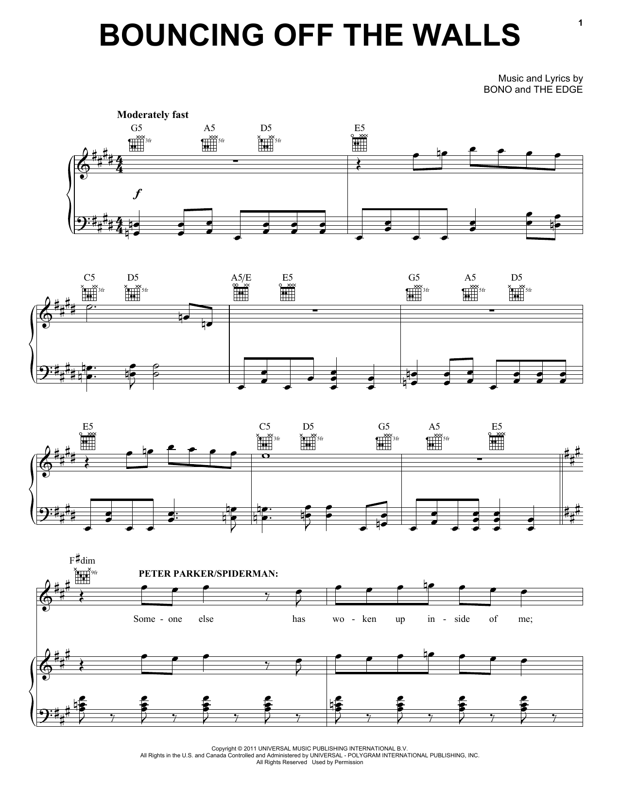 Bouncing Off The Walls Sheet Music