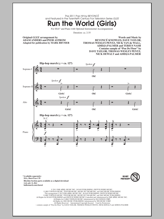 Run The World (Girls) Sheet Music