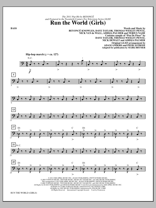 Run the World (Girls) - Bass (Choir Instrumental Pak)