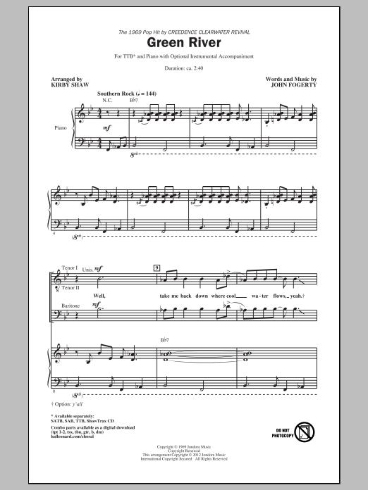 Green River (arr. Kirby Shaw) Sheet Music
