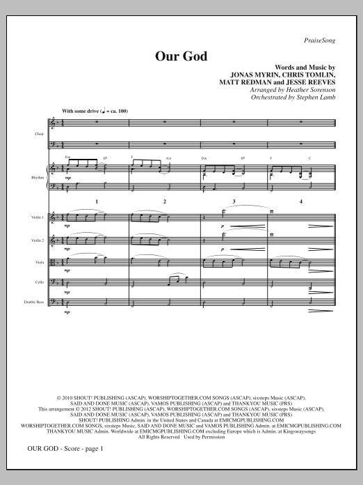 Our God - Full Score (Choir Instrumental Pak)