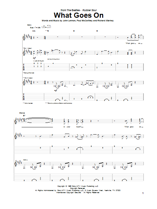 What Goes On Sheet Music