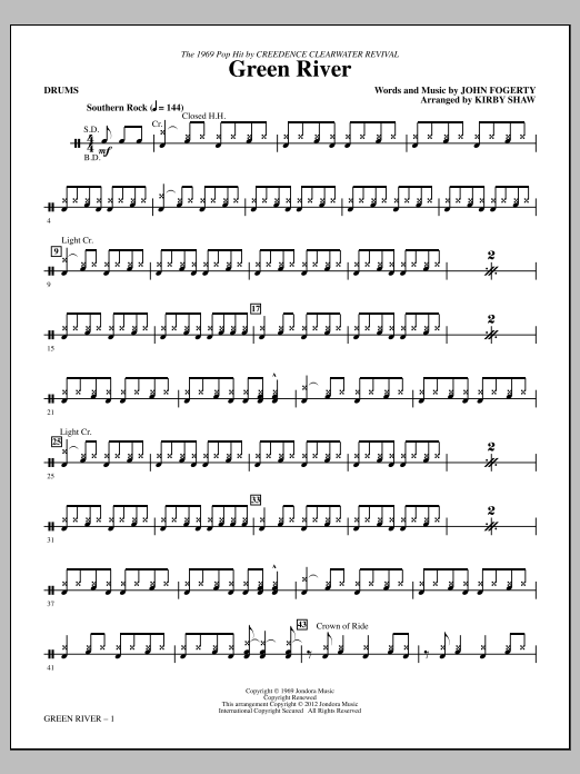 Green River Drums Sheet Music To Download