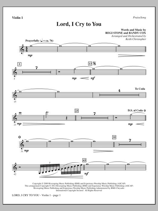 Lord, I Cry To You - Violin 1 (Choir Instrumental Pak)