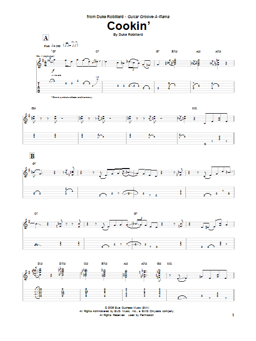 Cookin' Sheet Music