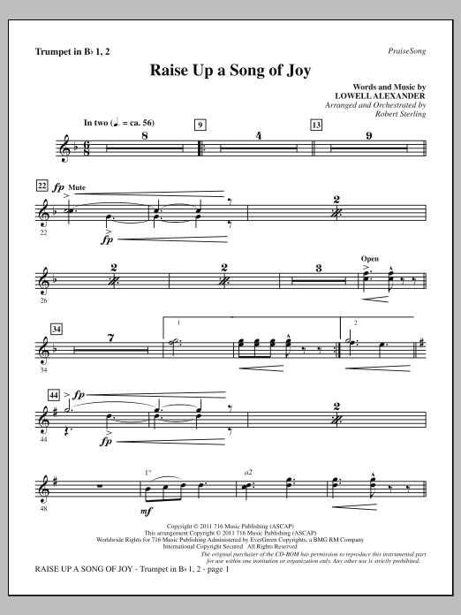 Raise Up A Song Of Joy - Bb Trumpet 1,2 Sheet Music