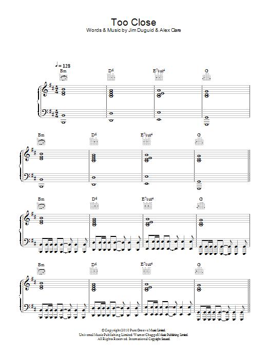Too Close Sheet Music