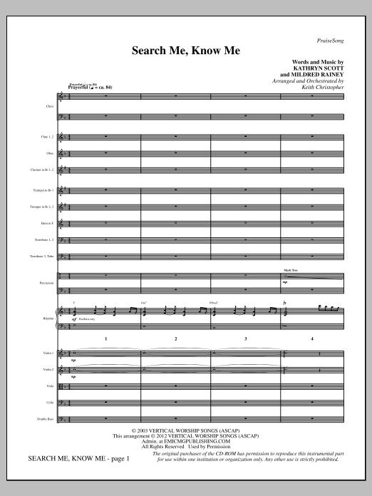 Search Me, Know Me - Full Score (Choir Instrumental Pak)