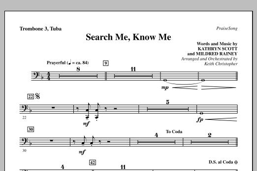 Search Me, Know Me - Trombone 3/Tuba (Choir Instrumental Pak)