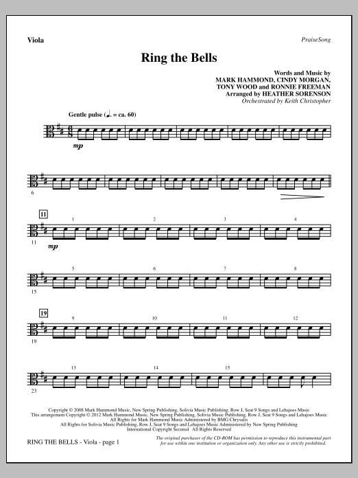 Ring The Bells - Viola Sheet Music