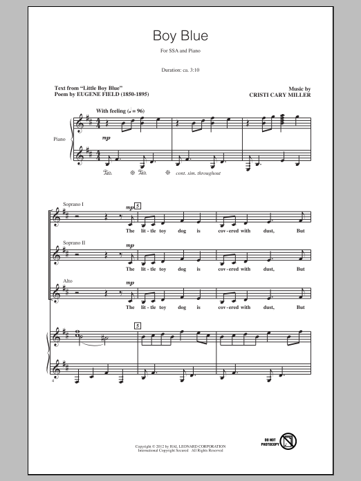 Boy Blue Sheet Music