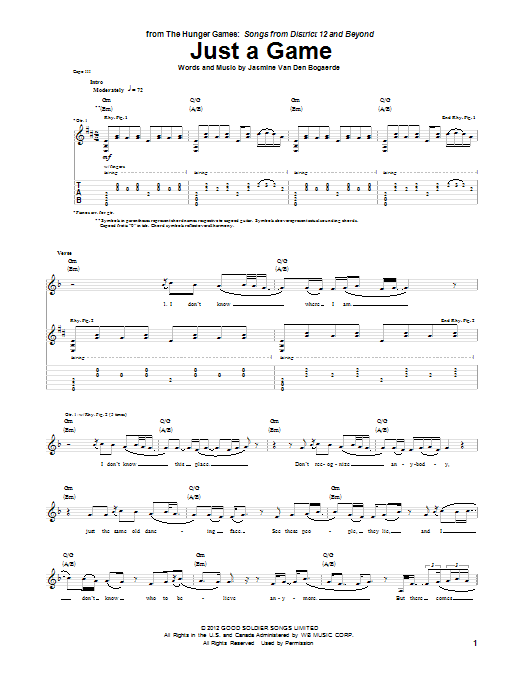 Just A Game Sheet Music