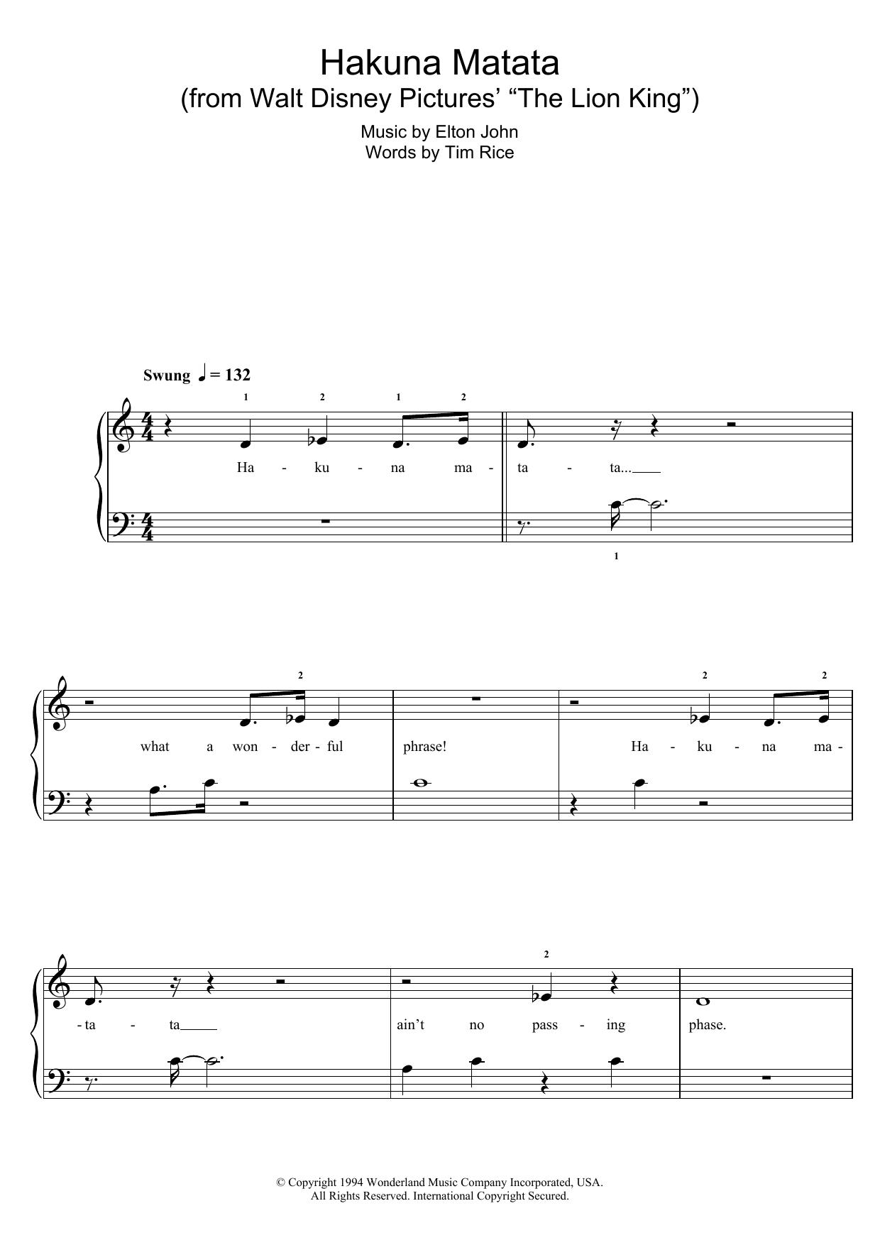 Ukulele : hakuna matata ukulele chords Hakuna Matata at Hakuna Matata Ukulele Chordsu201a Hakuna ...