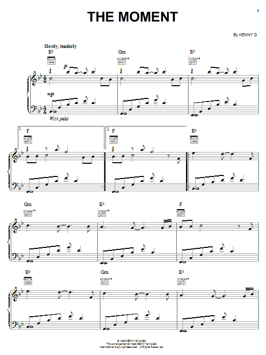 The Moment Sheet Music