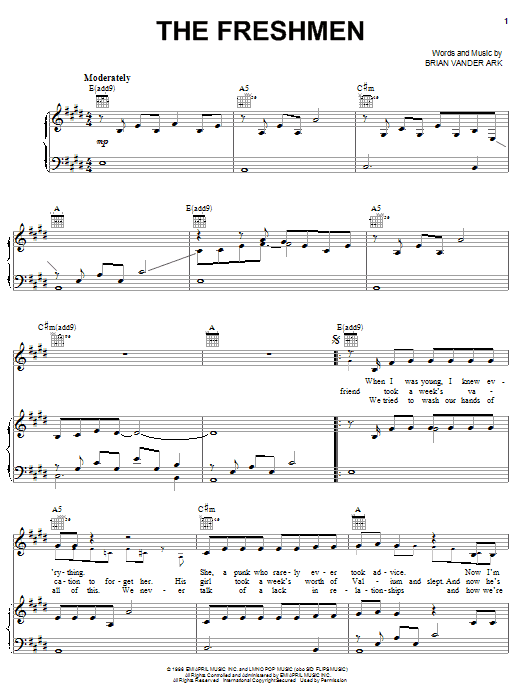 The Freshmen Sheet Music