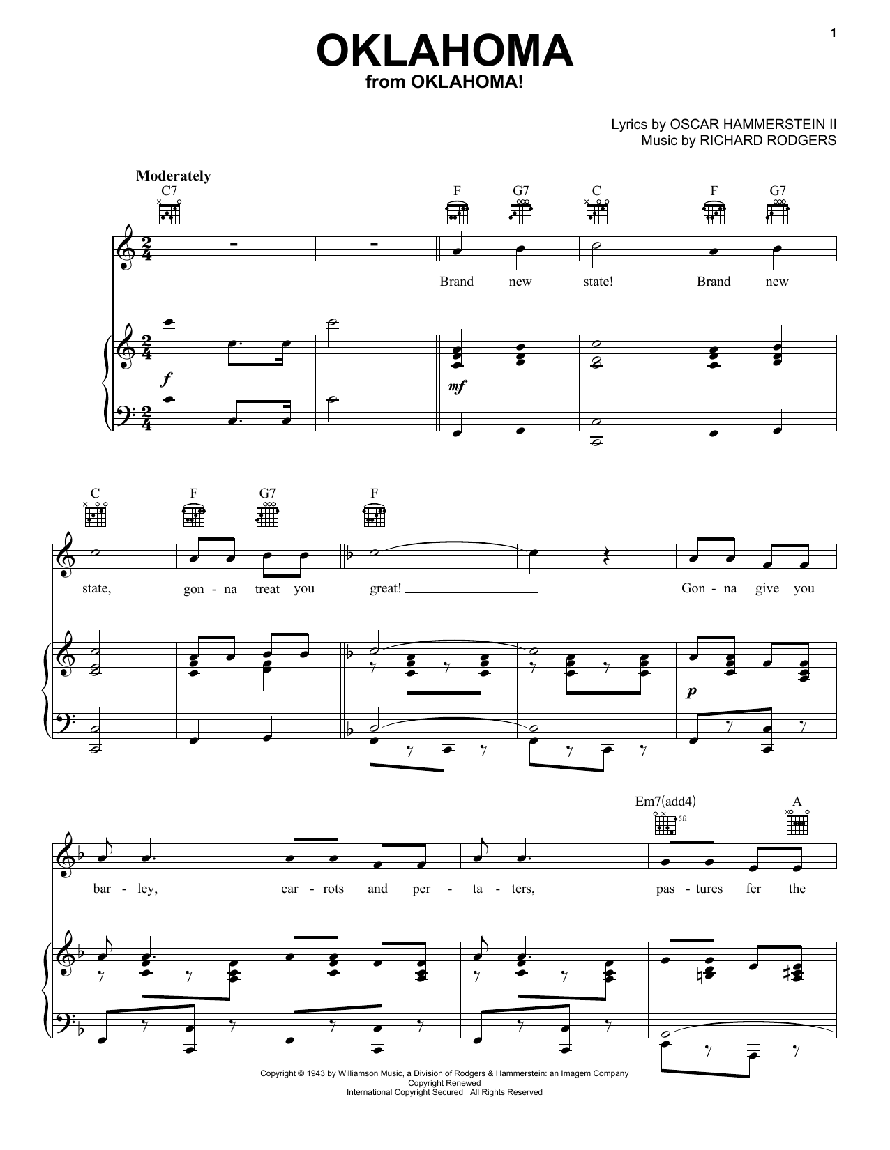 Oklahoma Sheet Music