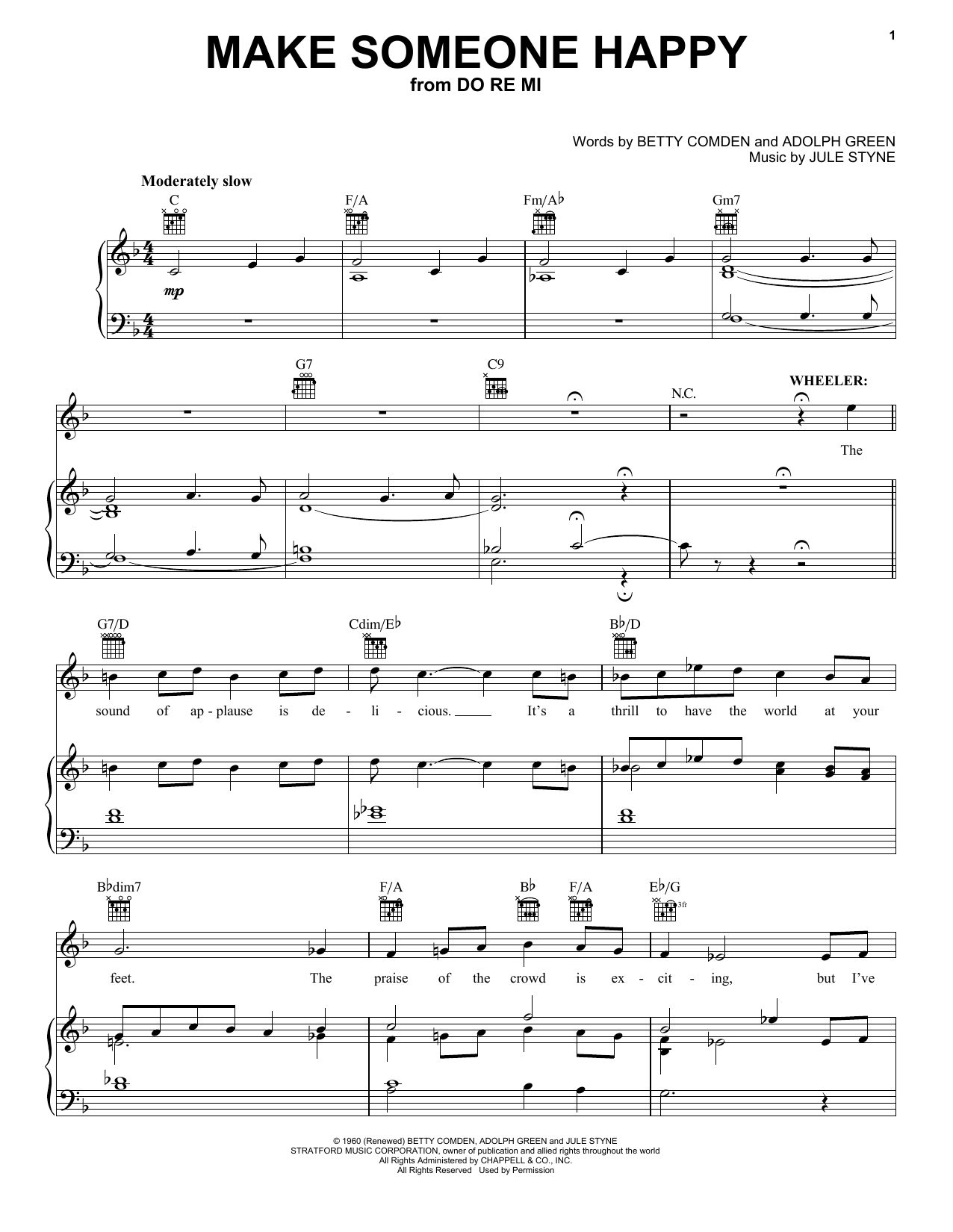 Make Someone Happy Sheet Music