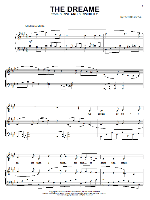 The Dreame Sheet Music