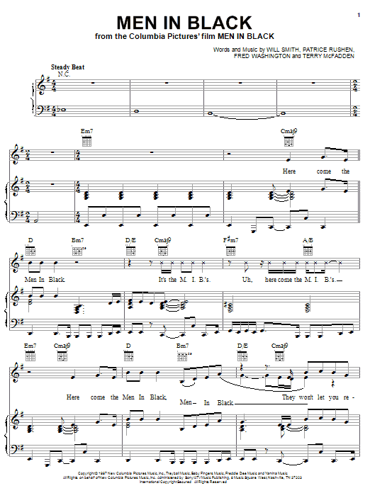 Men In Black Sheet Music