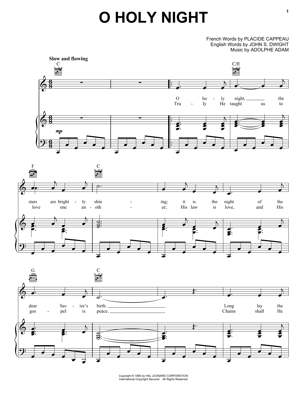 O holy night sheet music direct sheet preview o holy night hexwebz Choice Image