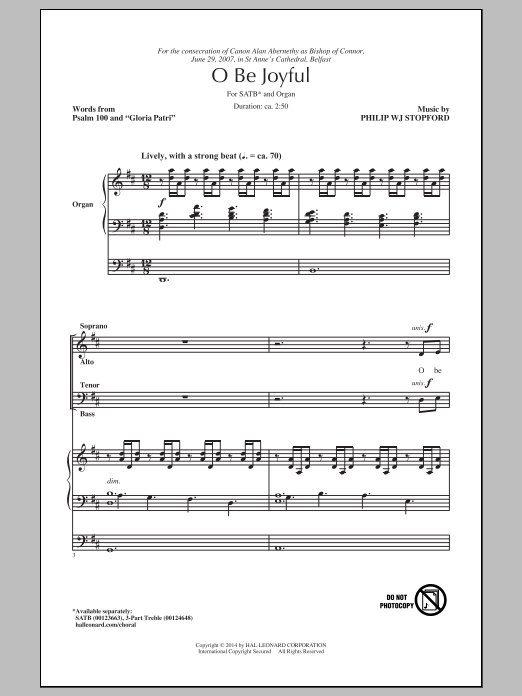 O Be Joyful Sheet Music