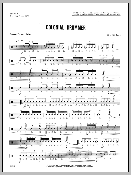 Colonial Drummer Sheet Music